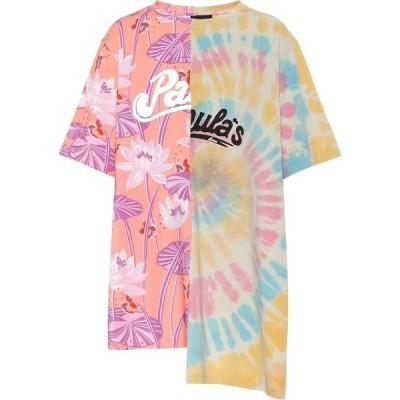 ロエベ Loewe レディース Tシャツ トップス Paula's Ibiza oversized cotton T-shirt Salmon/Multi