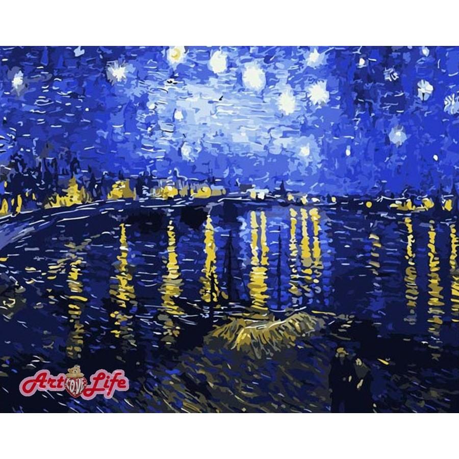 ArtLife 藝術生活 現貨 DIY 數字 油畫 彩繪 66323梵谷 星空下的羅納河 40X50cm
