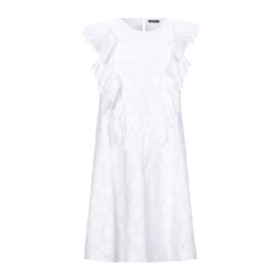SIENNA BEE ミニワンピース&ドレス ホワイト S コットン 100% ミニワンピース&ドレス