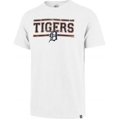フォーティセブン 47 メンズ Tシャツ トップス Detroit Tigers White Scrum T-Shirt