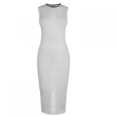 ケンダルアンドカイリー Kendall and Kylie レディース ワンピース ワンピース・ドレス KK Mesh Dress Bright White