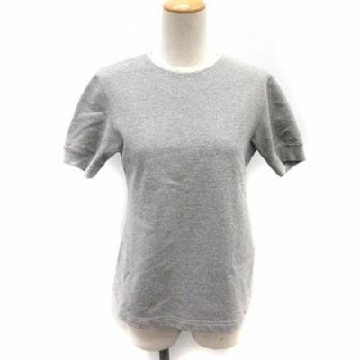 【中古】サイ ベーシックス SCYE BASICS Tシャツ カットソー 半袖 38 グレー /NT14 レディース