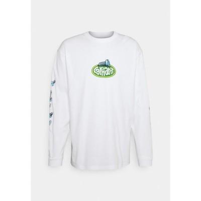 カーハート カットソー メンズ トップス SCREW - Long sleeved top - white