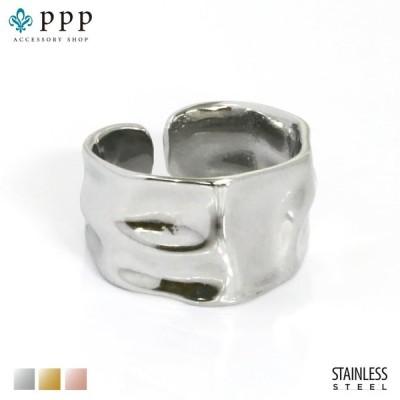 ステンレス リング(154)槌目 銀色(メイン) 指輪 金属アレルギー対応 レディース メンズ 送料無料