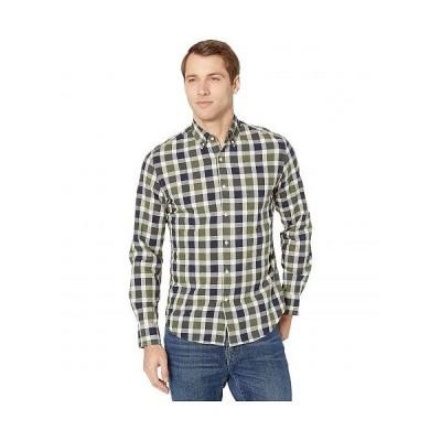 J.Crew メンズ 男性用 ファッション ボタンシャツ Slim Stretch Secret Wash Shirt In Organic Cotton Giant Gingham - Giant Gingham Green/Black