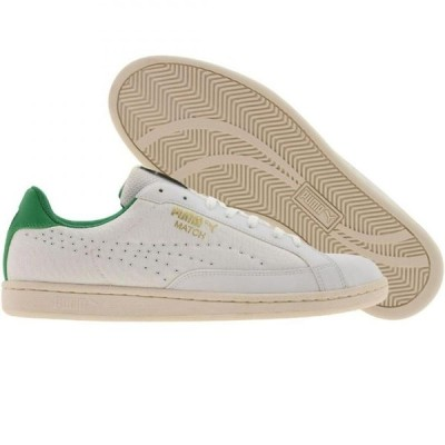 プーマ Puma メンズ スニーカー シューズ・靴 Match Canvas white/fern green/mg