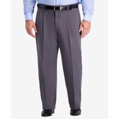 ハガール メンズ カジュアルパンツ ボトムス Men's Big & Tall W2W PRO Relaxed-Fit Performance Stretch Non-Iron Pleated Casual Pants