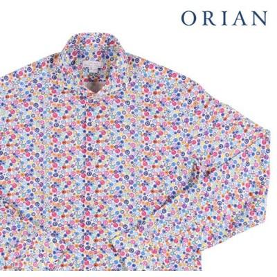 【40】 ORIAN オリアン 長袖シャツ メンズ 春夏 水玉 マルチカラー 並行輸入品 カジュアルシャツ