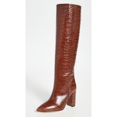 パリ テキサス Paris Texas レディース ブーツ クロコダイル柄 シューズ・靴 100mm Moc Croco Boots Brown
