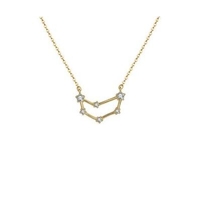 OSIANA Capricorn Constellation Necklace 14K Gold Plated Pendant Dainty Horo