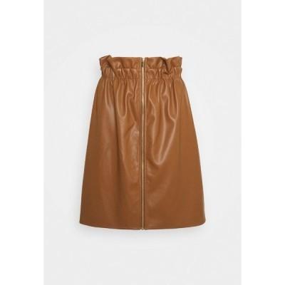 ヴィラ スカート レディース ボトムス VIJOSEP SHORT ZIPPER SKIRT - A-line skirt - toffee
