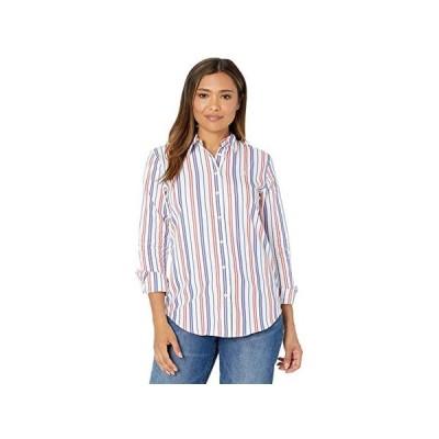 LAUREN Ralph Lauren Striped Cotton Broadcloth Shirt レディース シャツ トップス Red/Blue/White Multi