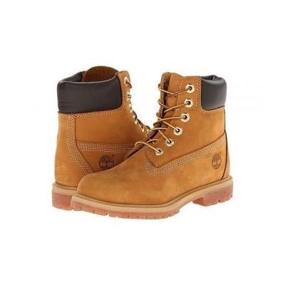"Timberland ティンバーランド レディース 女性用 シューズ 靴 ブーツ レースアップブーツ 6"" Premium Boot - Wheat Nubuck"