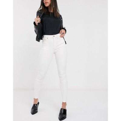 トップショップ レディース デニムパンツ ボトムス Topshop Jamie jeans in off white
