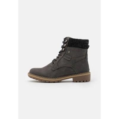トムテイラー レディース ブーツ&レインブーツ シューズ Lace-up ankle boots - coal coal