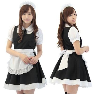 フレッシュ☆メイド(Mサイズ)女性用 コスプレ メイド服  メイドさんコスプレ 正統派な白黒ベースでキュートなメイドさんに大変身! tam