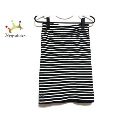 ドゥーズィエム DEUXIEME CLASSE スカート サイズ36 S レディース 黒×白 ボーダー   スペシャル特価 20200707