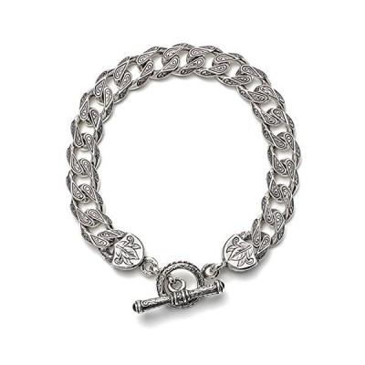 Konstantino Men's Sterling Silver Etched Link Bracelet