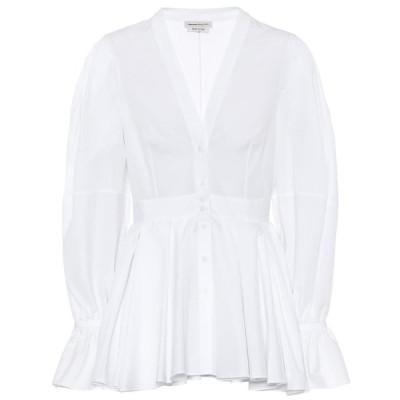 アレキサンダー マックイーン Alexander McQueen レディース ブラウス・シャツ トップス Cotton-poplin blouse Opticalwhite