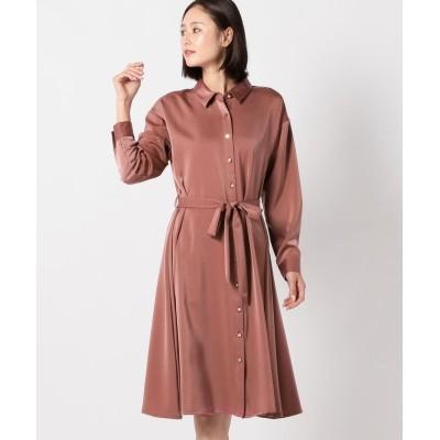 【ミューズ リファインド クローズ】 シャイニーシャツワンピース レディース ピンク系 M MEW'S REFINED CLOTHES