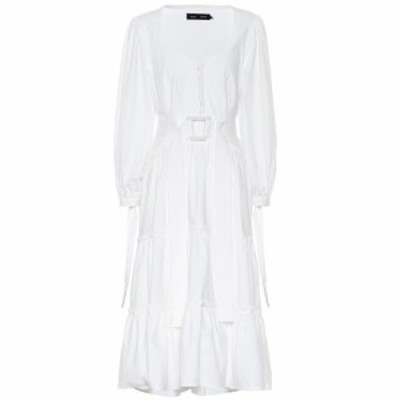 プロエンザ スクーラー Proenza Schouler レディース ワンピース ミドル丈 ワンピース・ドレス Stretch cotton midi dress White