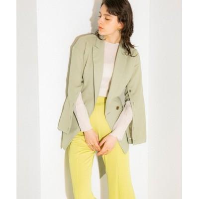 PUBLIC TOKYO / ボタンスリットスリーブジャケット WOMEN ジャケット/アウター > テーラードジャケット