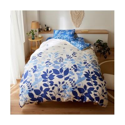 絵羽リーフ柄リバーシブル掛け布団カバー 掛け布団カバー, Bedding Duvet Covers(ニッセン、nissen)