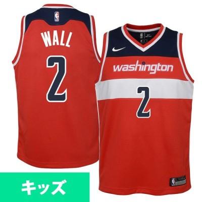 八村塁選手所属 ウィザーズ ユニフォーム ジャージ NBA ジョン・ウォール ユース スイングマン ナイキ Nike レッド BZ2P