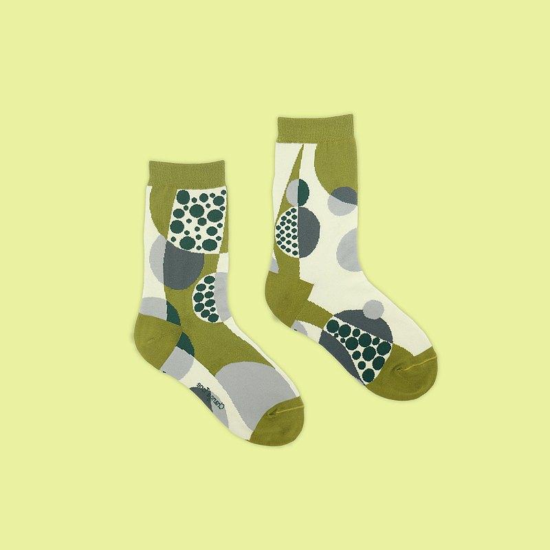 可圈可點/綠(M)-MIT設計中筒襪