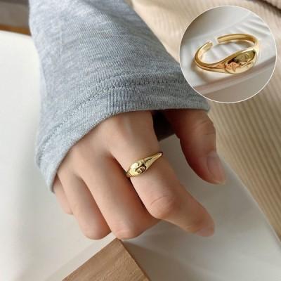 指輪 リング レディース 女性用 ファッションリング オープンリング シルバー925 顔 フェイス おしゃれ プレゼント ギフト