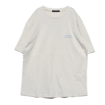 ゲス GUESS Colorful Logo Tee (LIGHT BEIGE)