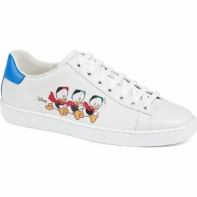 グッチ GUCCI レディース スニーカー ローカット シューズ・靴 x Disney Ace Huey. Dewey and Louie Low Top Sneaker White/White/Blue