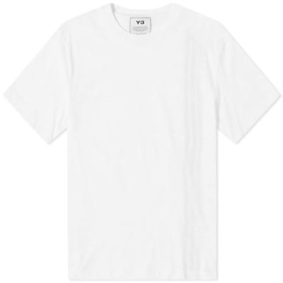 ワイスリー Y-3 メンズ Tシャツ トップス 3-stripe tee Core White