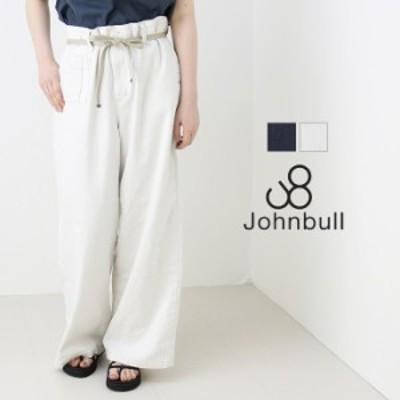 SALE セール/ジョンブル JOHNBULL ブリティッシュミリタリーパンツ ZP280 2021春夏 ベルト付き ワイド ゆったり ジーンズ 日本製 レディ