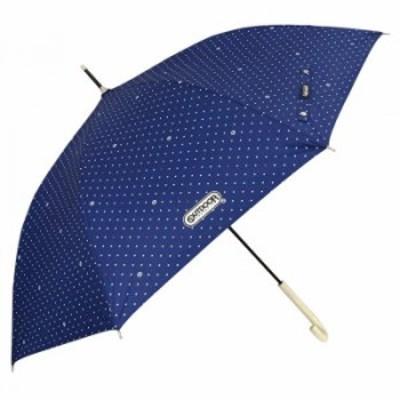 OUTDOOR PRODUCTS 雨晴兼用長傘 60cm レディース ネイビー(ドット) 10001069 傘