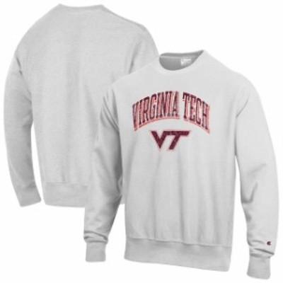 Champion チャンピオン スポーツ用品  Champion Virginia Tech Hokies Gray Arch Over Logo Reverse Weave Pullover Sweatsh