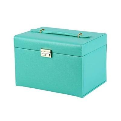 SANSREPONSE ジュエリーボックス 鍵付き 大容量 豪華 アクセサリーケース アクセサリー収納 アクセサリーボックス 宝石箱 ミラー