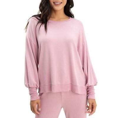 スプレンディット レディース Tシャツ トップス Flora Knit Crew Neck Long Sleeve Pullover