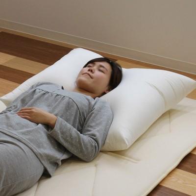 枕 ふわふわ 肩まで支えるBIGまくら 大きい 68×80cm 日本製 ( まくら ロング 肩こり )