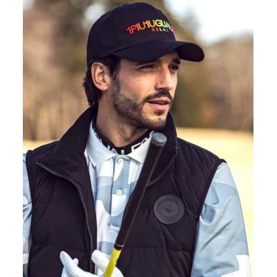SHIFFON / 1PIU1UGUALE3 RELAX(ウノピゥウノウグァーレトレ)レインボーロゴ刺繍キャップ MEN 帽子 > キャップ