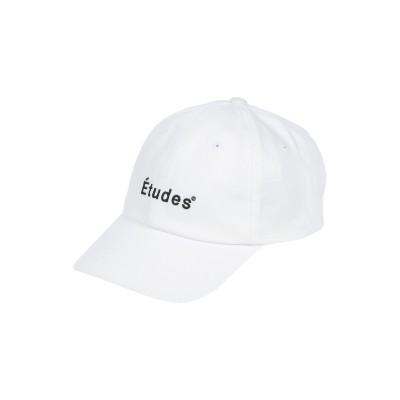 ÉTUDES 帽子 ホワイト one size コットン 100% 帽子