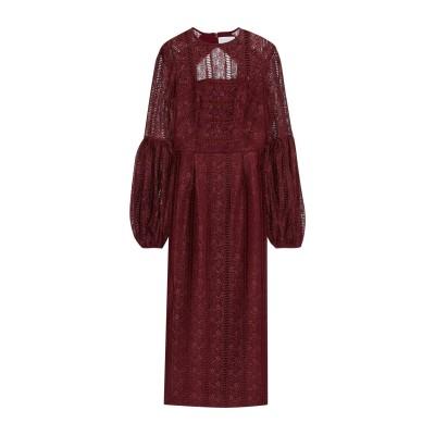 REBECCA VALLANCE 7分丈ワンピース・ドレス ボルドー 8 ポリエステル 100% 7分丈ワンピース・ドレス