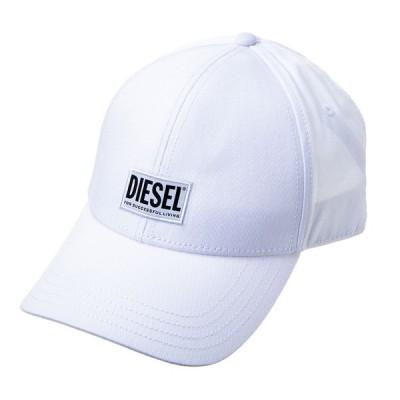 ディーゼル メンズ 帽子 キャップ 野球帽 DIESEL 00SYQ9 0BAUI 100 ホワイト 白