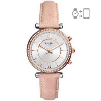 フォッシル レディース 腕時計 アクセサリー Women's Hybrid Smart Watch Carlie Blush Leather Strap Watch 36mm Pink
