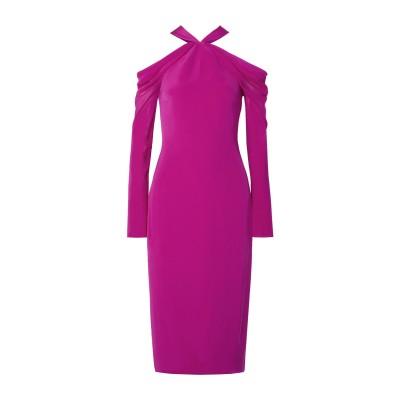 クシュニー・エ・オクス CUSHNIE 7分丈ワンピース・ドレス フューシャ 8 シルク 100% / ポリウレタン 7分丈ワンピース・ドレス