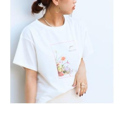 gui×NOLLEY'S別注 フラワープリントTシャツ