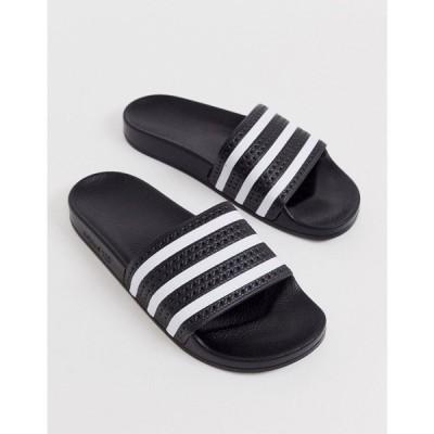 アディダス adidas Originals メンズ サンダル シューズ・靴 Adilette sliders in black Black