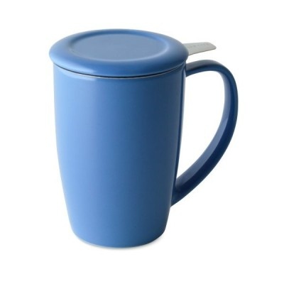 FORLIFE Curve Tall Tea Mug with Infuser and Lid, 15-Ounce, Blue by FORLIFE【