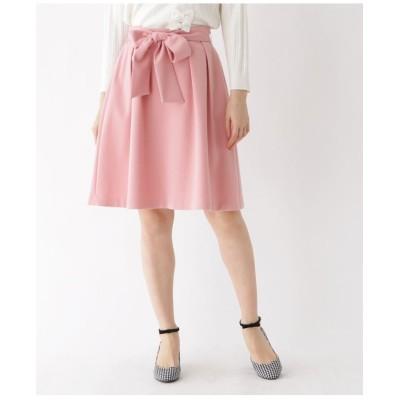 【WEB限定サイズ(LL)あり】リボンフレアスカート