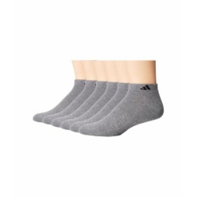 アディダス メンズ 靴下 アンダーウェア Athletic 6-Pack Low Cut Socks Heather Grey/Bl